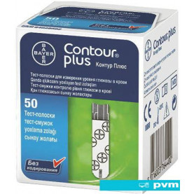 Тест-полоски Bayer Contour Plus 50 шт.