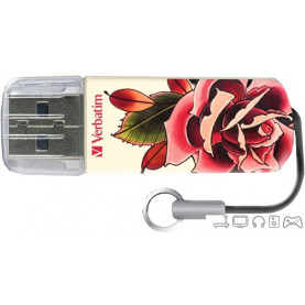 USB Flash Verbatim Tattoo Edition Rose 16GB