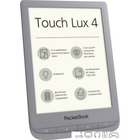 Электронная книга PocketBook Touch Lux 4 (серебристый)