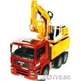 Bruder MAN TGA Construction truck with Liebherr Excavator 02751