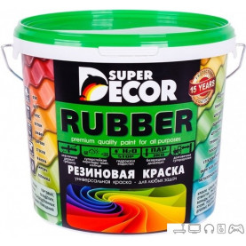 Краска Super Decor Rubber 6 кг (№07 балтика)