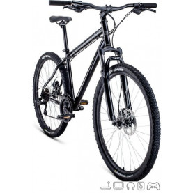Велосипед Forward Sporting 27.5 3.0 disc р.19 2021 (черный)