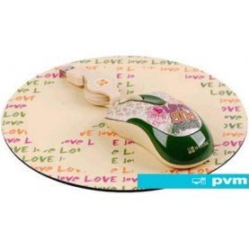 Мышь + коврик G-Cube So Happy Together Peace with mouse pad (GLMH-6120P)